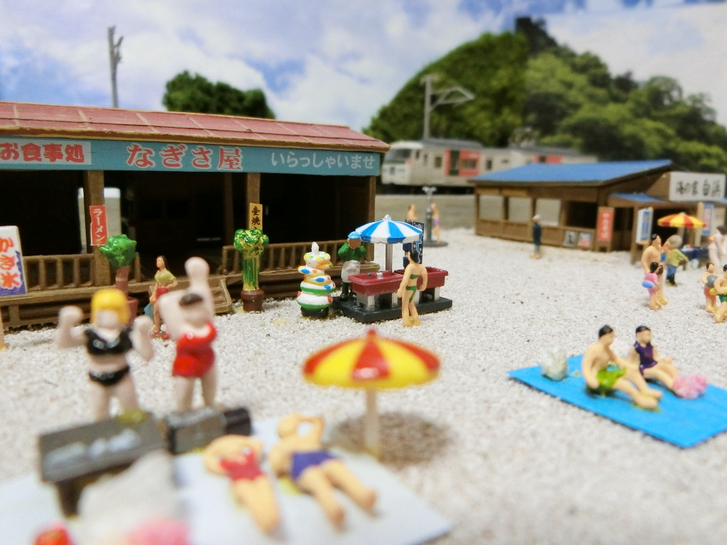 ワンショットジオラマ・夏の海岸-1101