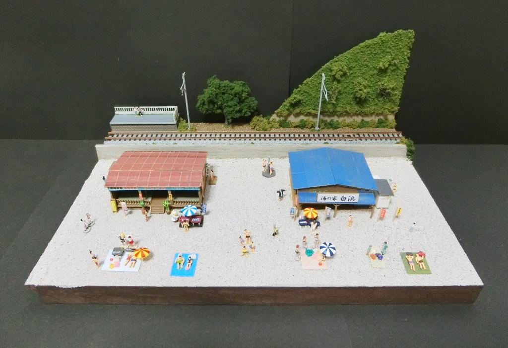 ワンショットジオラマ・夏の海岸-1104