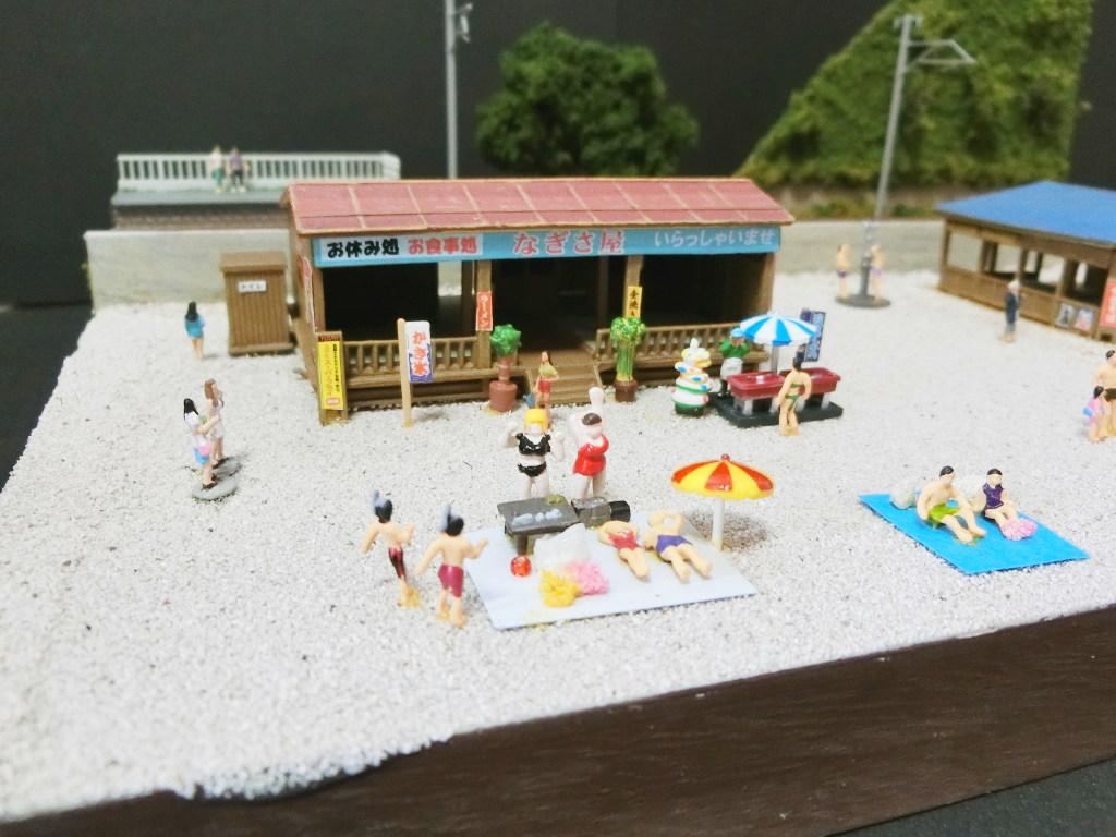 ワンショットジオラマ・夏の海岸-1110