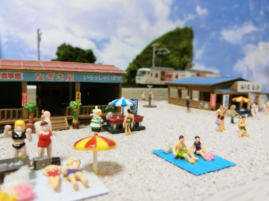 ワンショットジオラマ・夏の海岸-1118