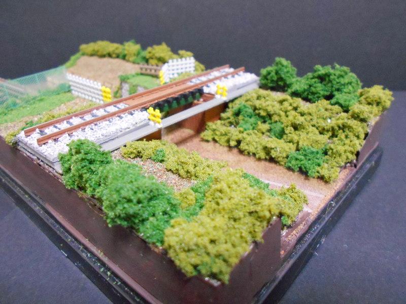 ワンショットジオラマ・玉川上水と西武線・鷹の台駅-2114