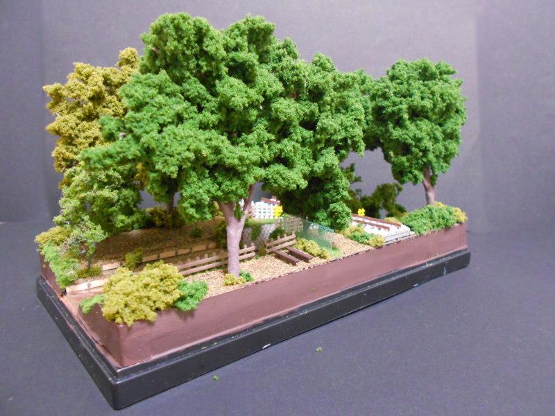 ワンショットジオラマ・玉川上水と西武線・鷹の台駅-2120