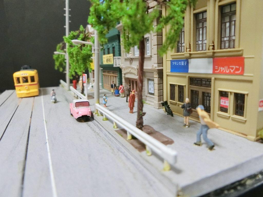 ワンショットジオラマ・今日も、都電で。-1106