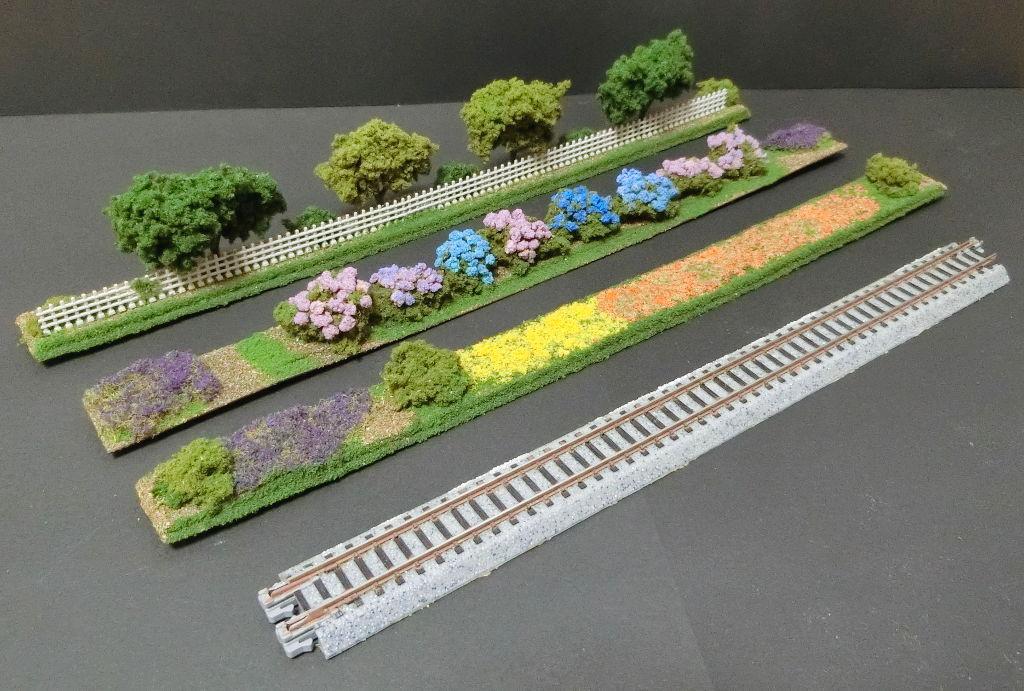 線路に沿えるお手軽ジオラマ直線編・2020春-1101