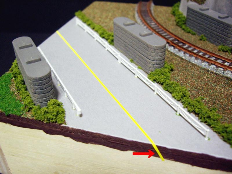 単線ミニモジュールレイアウト・コーナー桜1-1517