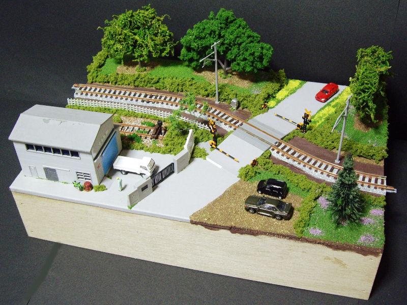 単線ミニモジュールレイアウト・S字工場-1321