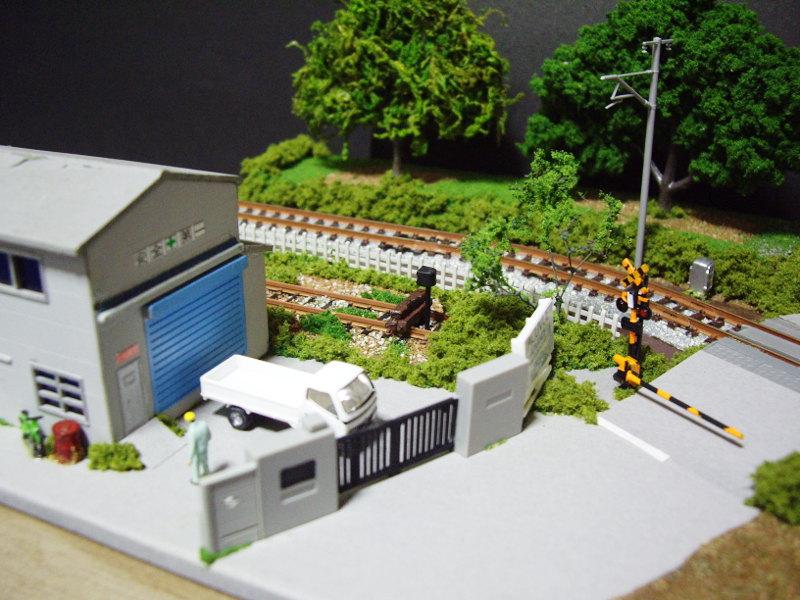 単線ミニモジュールレイアウト・S字工場-1322