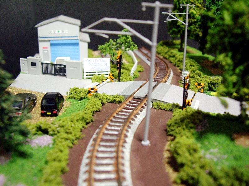 単線ミニモジュールレイアウト・S字工場-1328