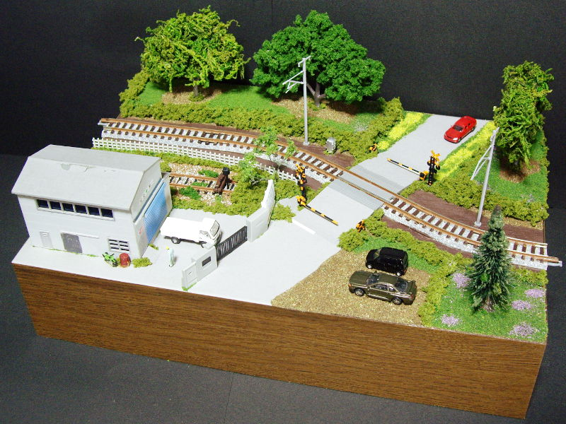 単線ミニモジュールレイアウト・S字工場-1330