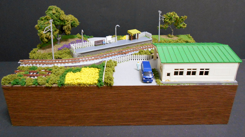 単線ミニモジュールレイアウト・S字大糸線の駅-1405