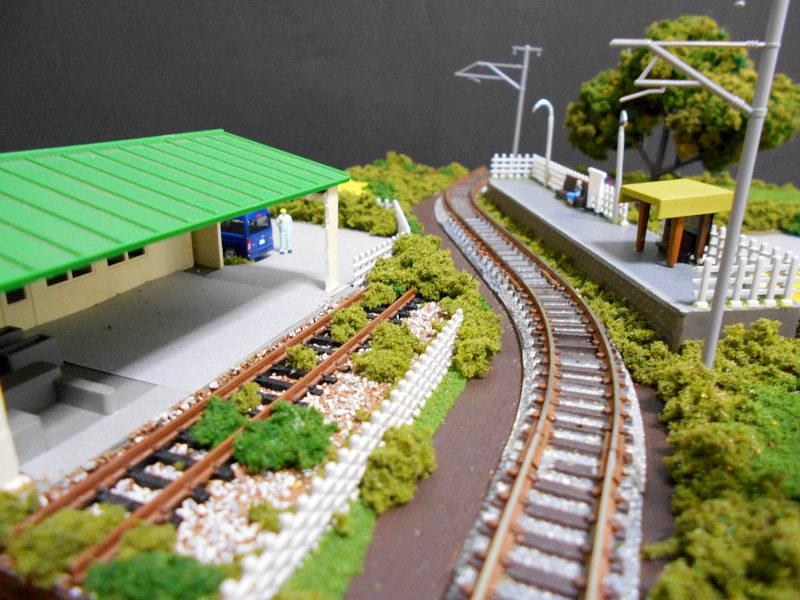 単線ミニモジュールレイアウト・S字大糸線の駅-1409