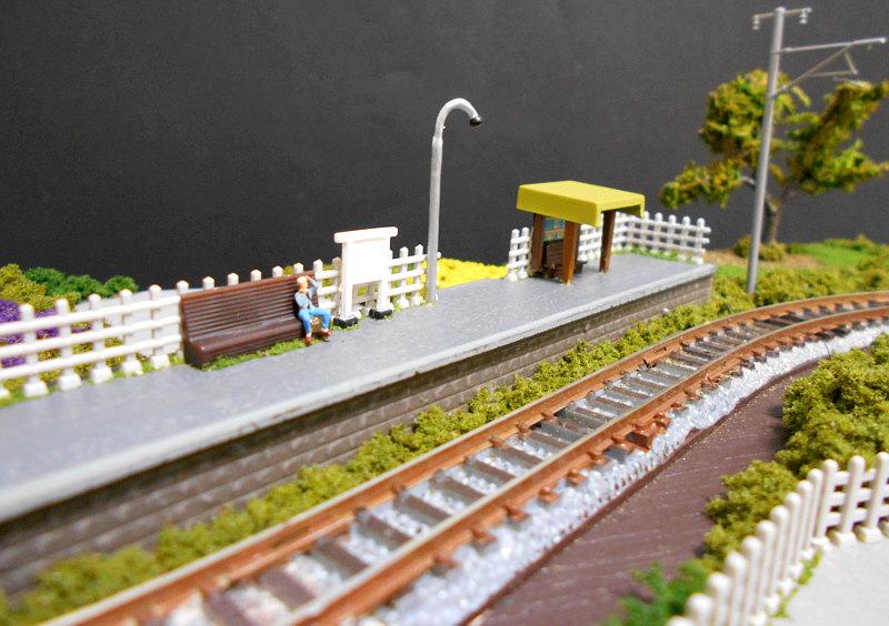 単線ミニモジュールレイアウト・S字大糸線の駅-1410