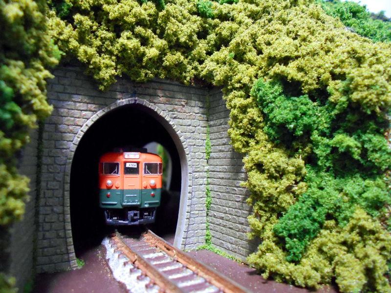 単線ミニモジュールレイアウト・S字トンネル-1201