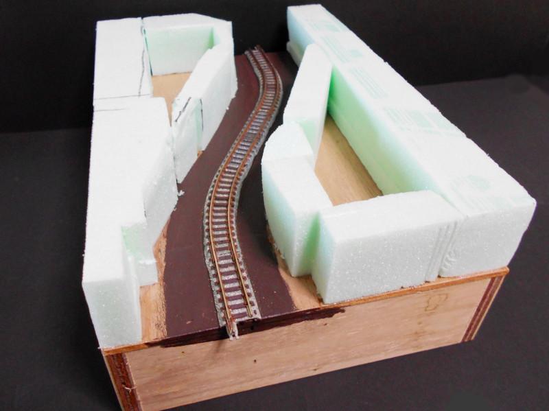 単線ミニモジュールレイアウト・S字トンネル-1203