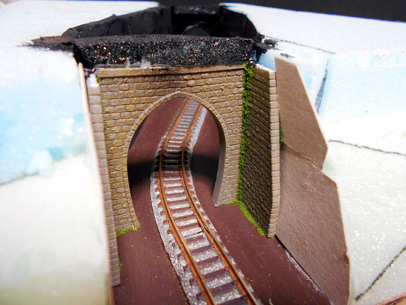 単線ミニモジュールレイアウト・S字トンネル-1205