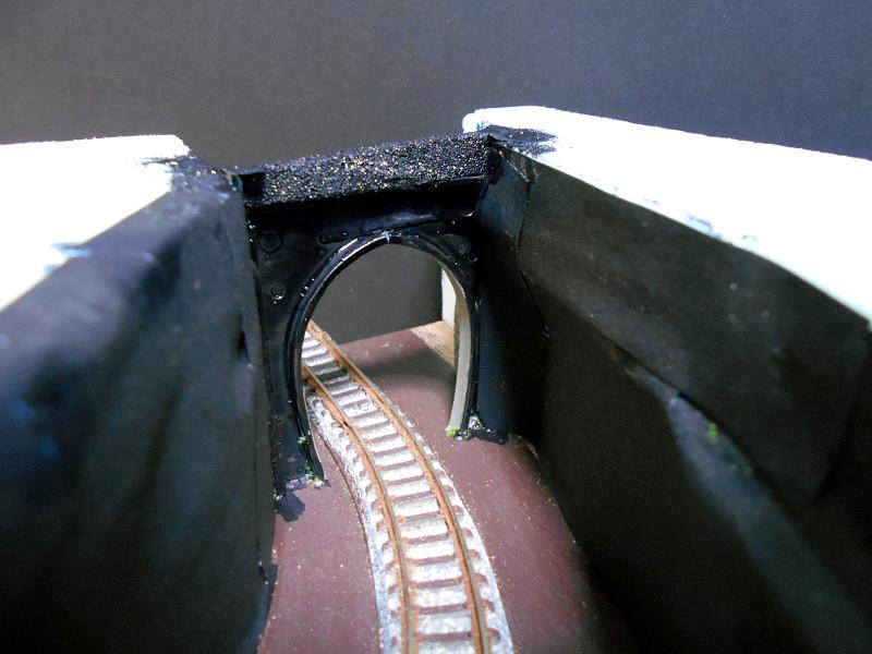 単線ミニモジュールレイアウト・S字トンネル-1206
