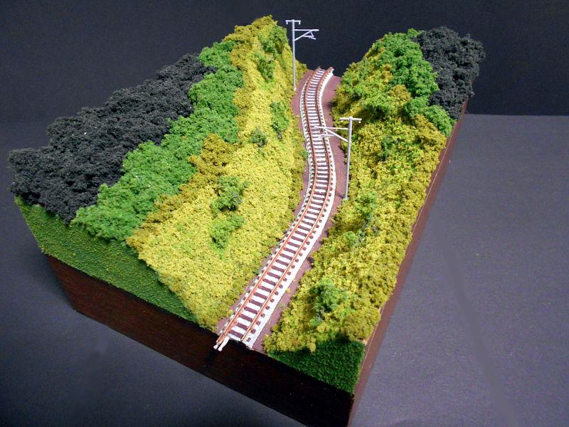 単線ミニモジュールレイアウト・S字トンネル-1215
