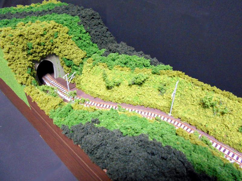 単線ミニモジュールレイアウト・S字トンネル-1217