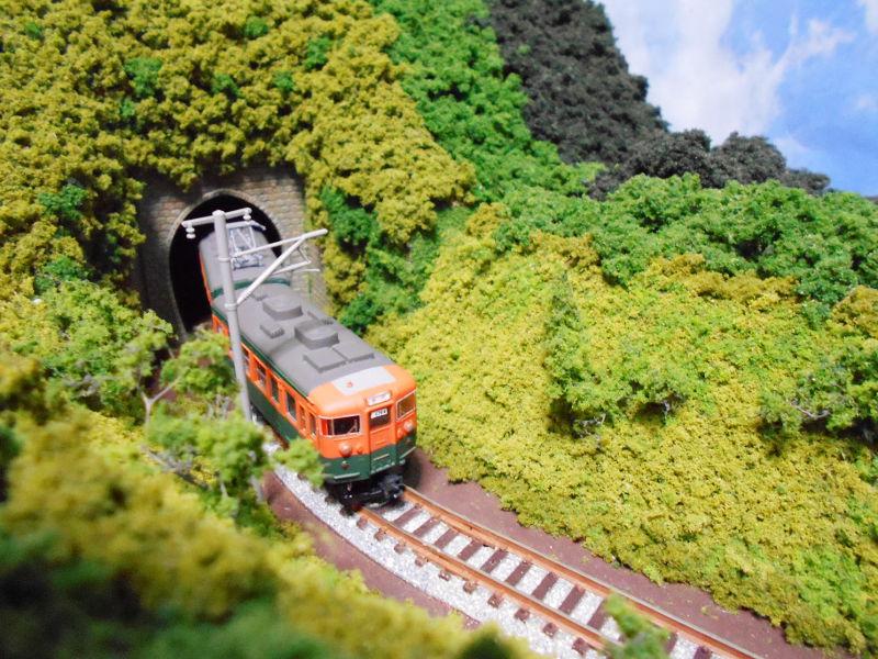 単線ミニモジュールレイアウト・S字トンネル-1218