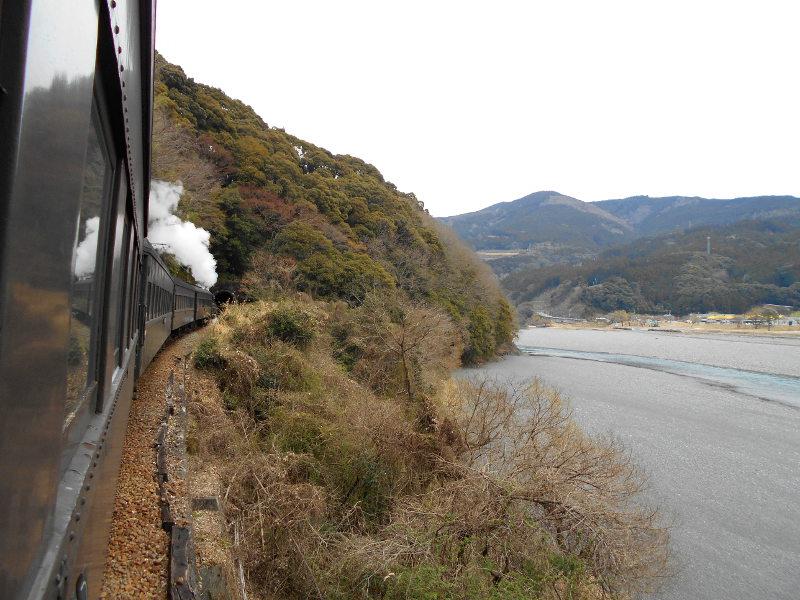 静岡・大井川鐵道のSL・車窓の風景2016-1412