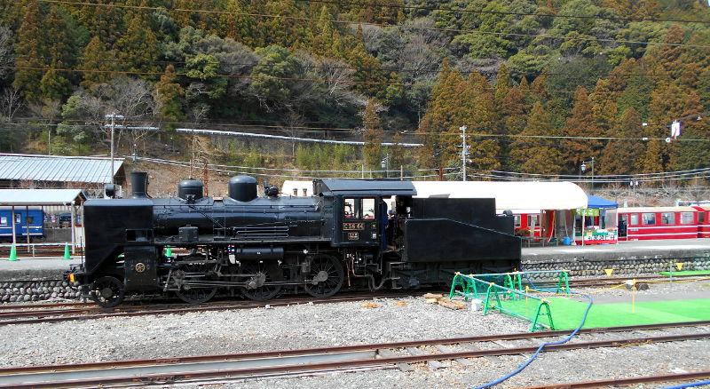 静岡・大井川鐵道のSL・千頭駅2016-1508
