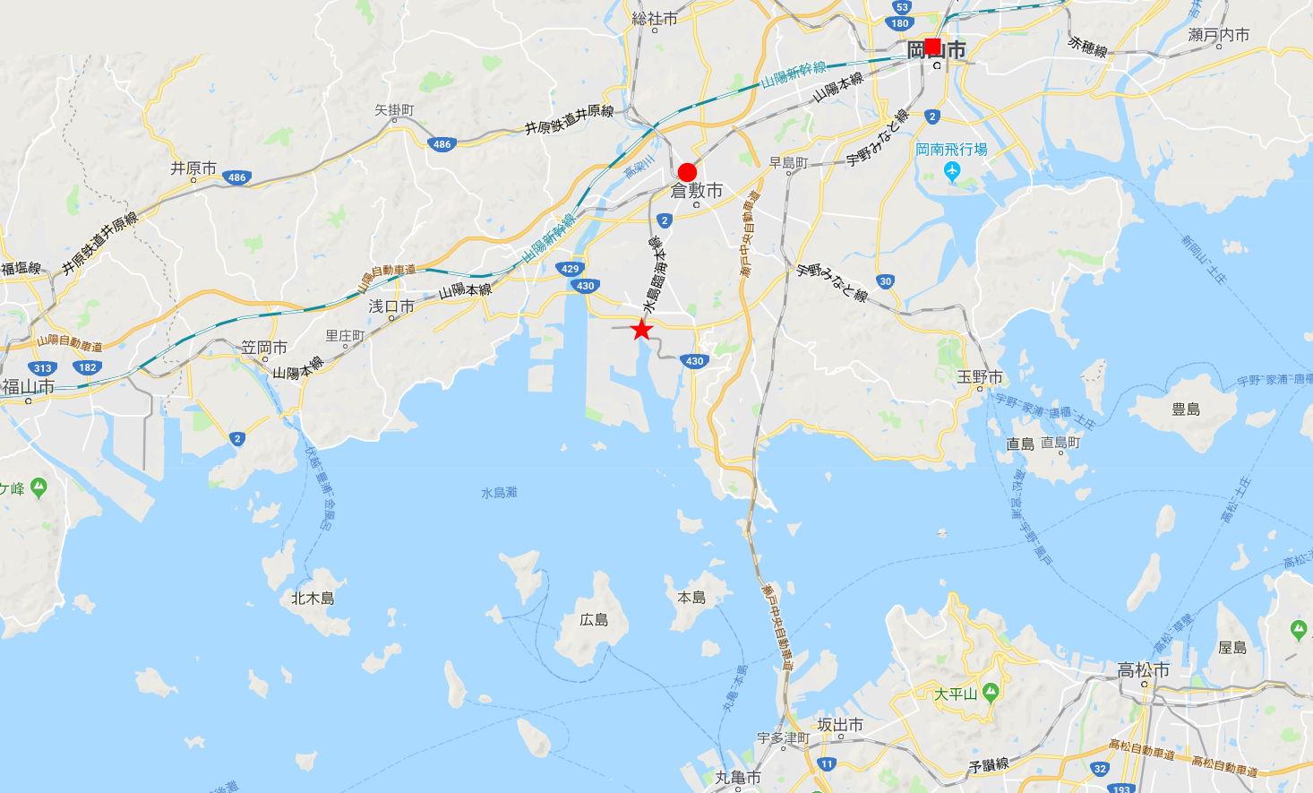 岡山・水島港の海上保安庁コンテナ2018春-1102
