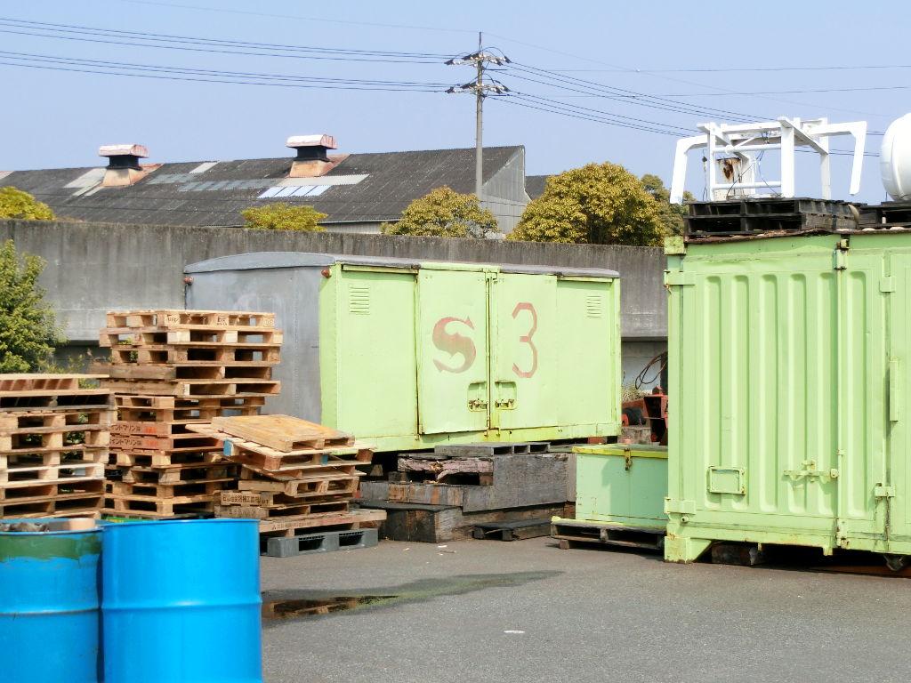 岡山・水島港の海上保安庁コンテナ2018春-1112
