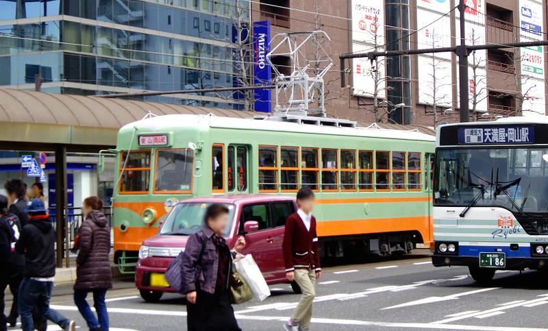 岡山電気軌道2013・東武日光色-6001