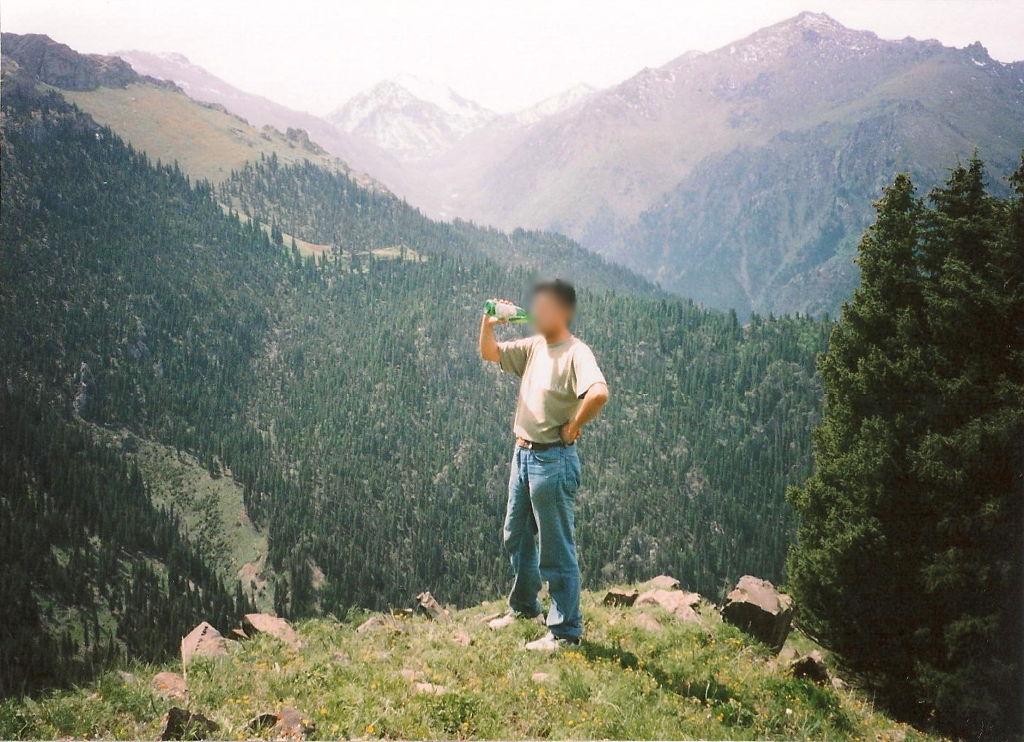 ユーラシア大陸鉄道横断旅行 Go West!1996その23・天池・馬に乗って山登り-2305