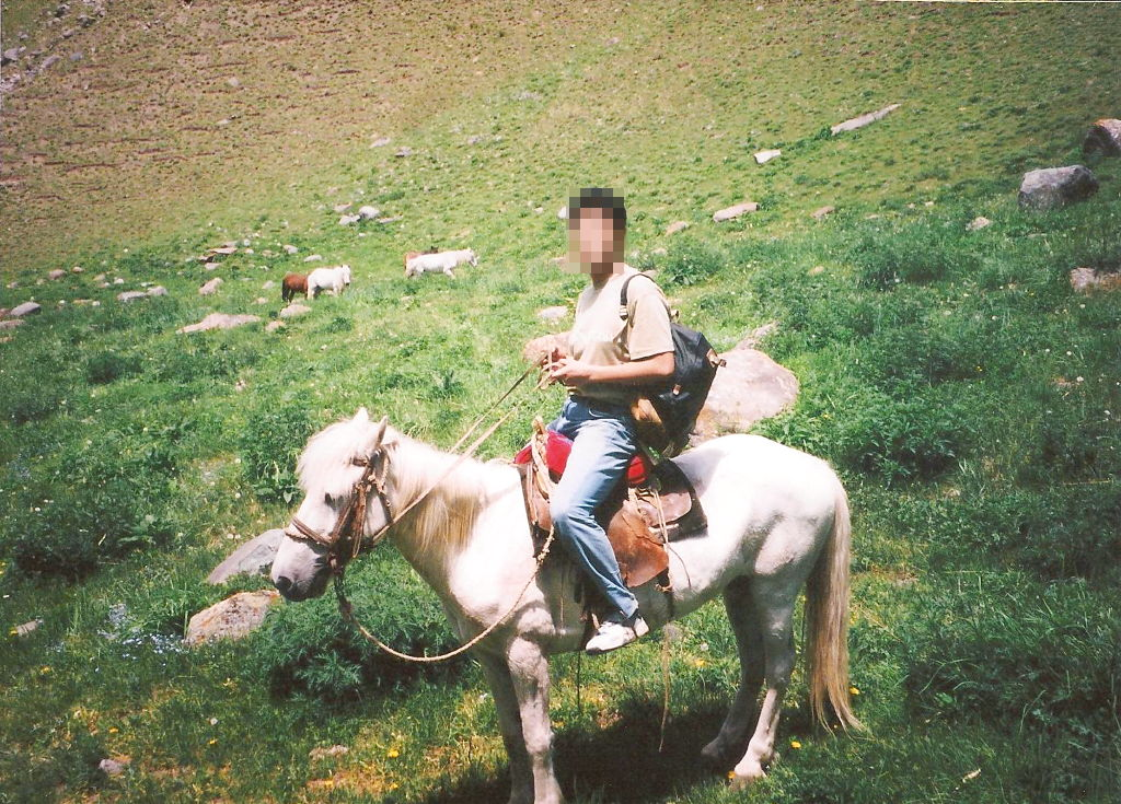 ユーラシア大陸鉄道横断旅行 Go West!1996その23・天池・馬に乗って山登り-2306