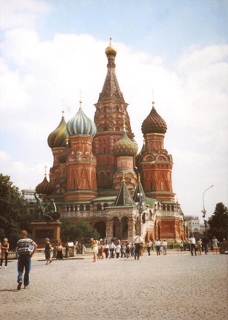 ユーラシア大陸鉄道横断旅行 Go West!1996その36・モスクワ・クレムリンと赤の広場-3615