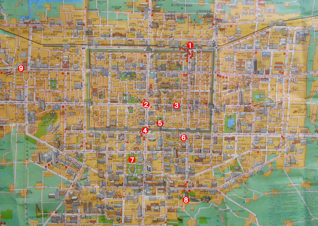 ユーラシア大陸鉄道横断旅行 Go West!1996その38・地図・前半のおさらい-3806