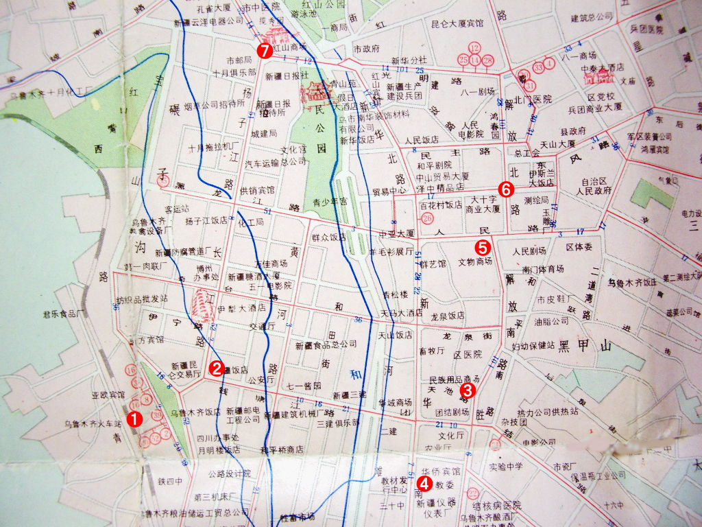 ユーラシア大陸鉄道横断旅行 Go West!1996その38・地図・前半のおさらい-3808