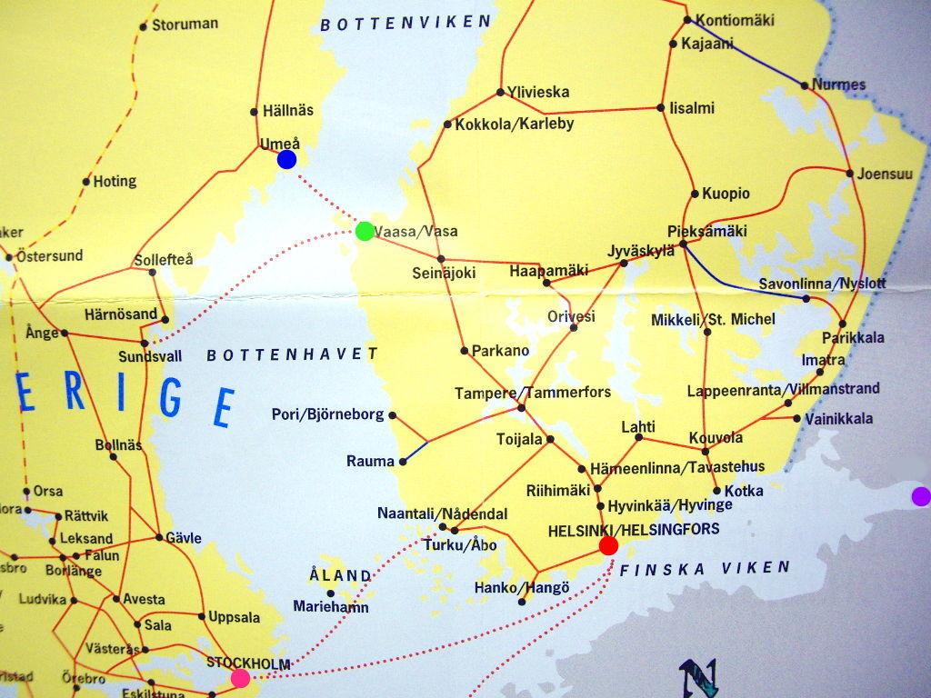 ユーラシア大陸鉄道横断旅行 Go West!1996その38・地図・前半のおさらい-3811