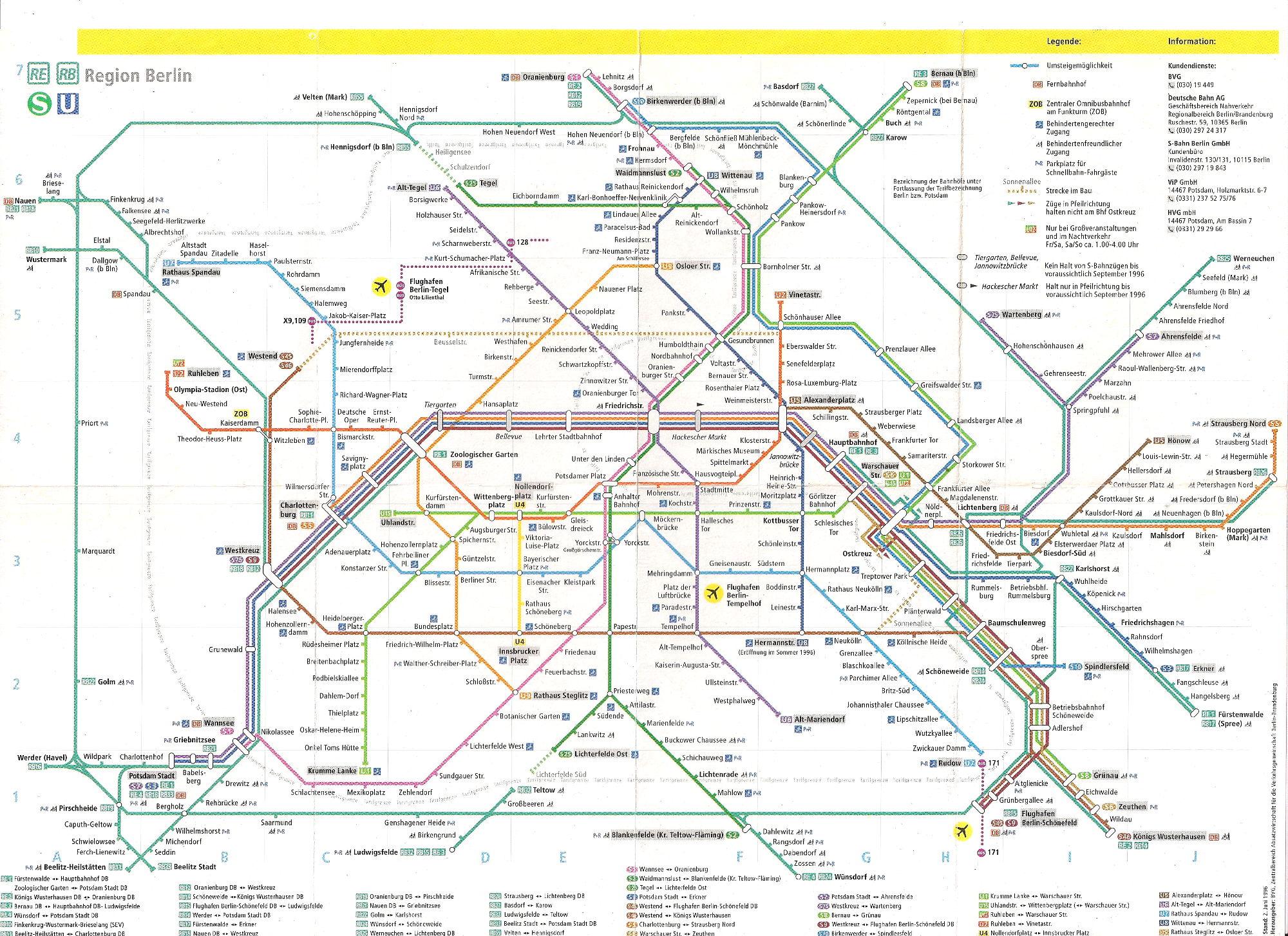 ユーラシア大陸鉄道横断旅行 Go West!1996その43・ベルリン・ベルリンの壁とミトローパ-4304