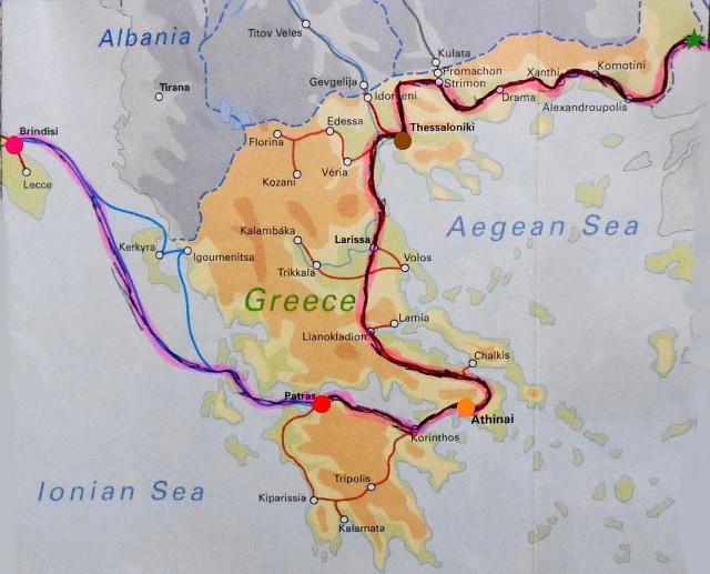 ユーラシア大陸鉄道横断旅行 Go West!1996その68・パトラからアテネへ-6802