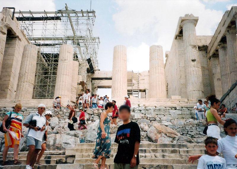 ユーラシア大陸鉄道横断旅行 Go West!1996その69・アテネ・遺跡の観光-6908