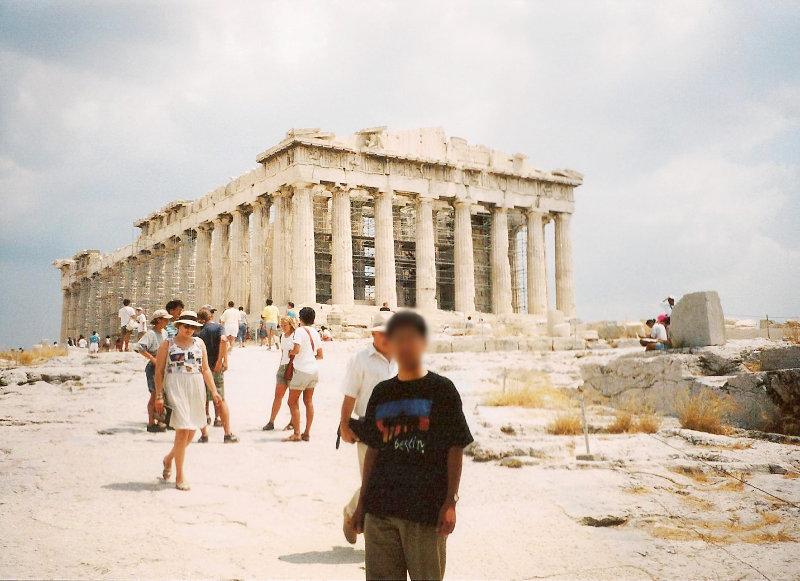 ユーラシア大陸鉄道横断旅行 Go West!1996その69・アテネ・遺跡の観光-6909