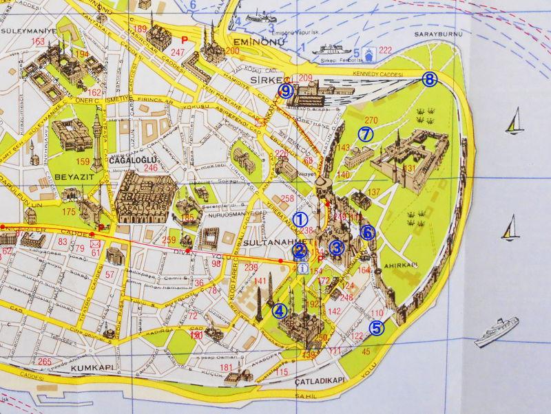 ユーラシア大陸鉄道横断旅行 Go West!1996その76・イスタンブール・宮殿とモスクを見学-7601
