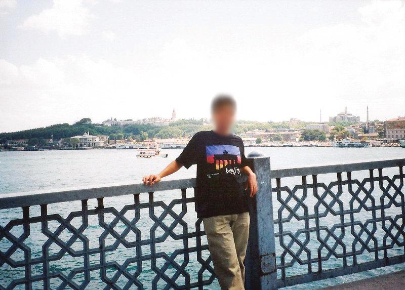ユーラシア大陸鉄道横断旅行 Go West!1996その78・イスタンブール・新市街とボスポラス海峡-7802