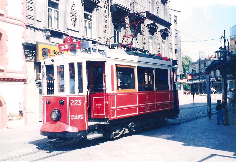ユーラシア大陸鉄道横断旅行 Go West!1996その78・イスタンブール・新市街とボスポラス海峡-7806