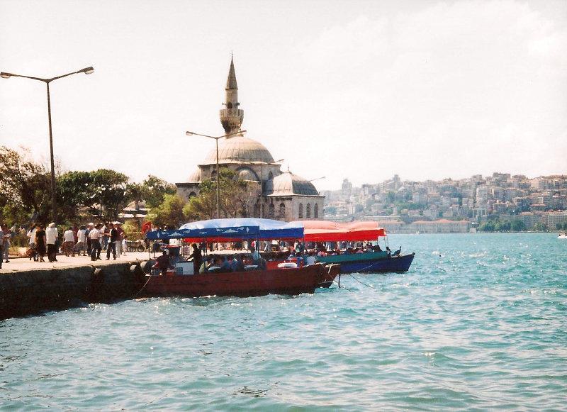 ユーラシア大陸鉄道横断旅行 Go West!1996その78・イスタンブール・新市街とボスポラス海峡-7807