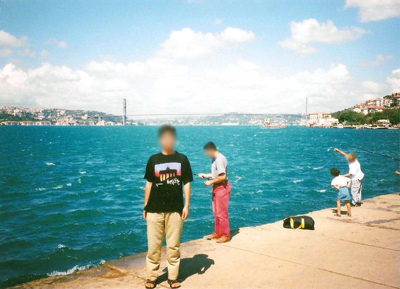 ユーラシア大陸鉄道横断旅行 Go West!1996その78・イスタンブール・新市街とボスポラス海峡-7808