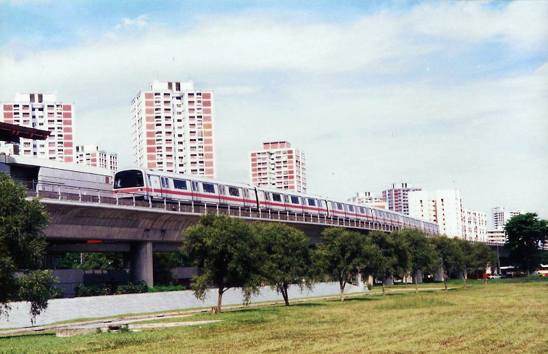 ユーラシア大陸鉄道横断旅行 Go West!1996その84・シンガポール・お洒落にデート-8401
