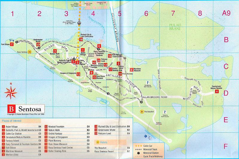 ユーラシア大陸鉄道横断旅行 Go West!1996その85・シンガポール・セントーサ島-8506