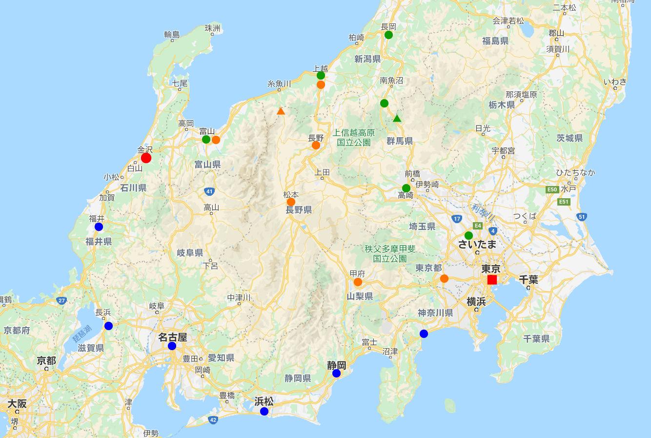 はるかなる北陸路・その1・青春18きっぷで東京から金沢へ2009冬-1101