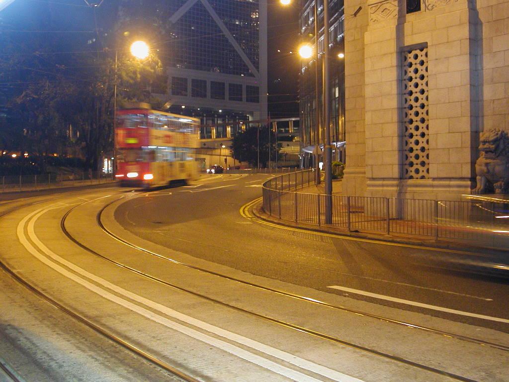 香港・小心地滑友の会 その1・二階建てトラムと夜景2008秋-0105