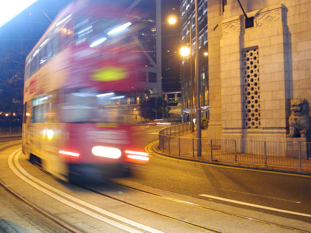 香港・小心地滑友の会 その1・二階建てトラムと夜景2008秋-0106
