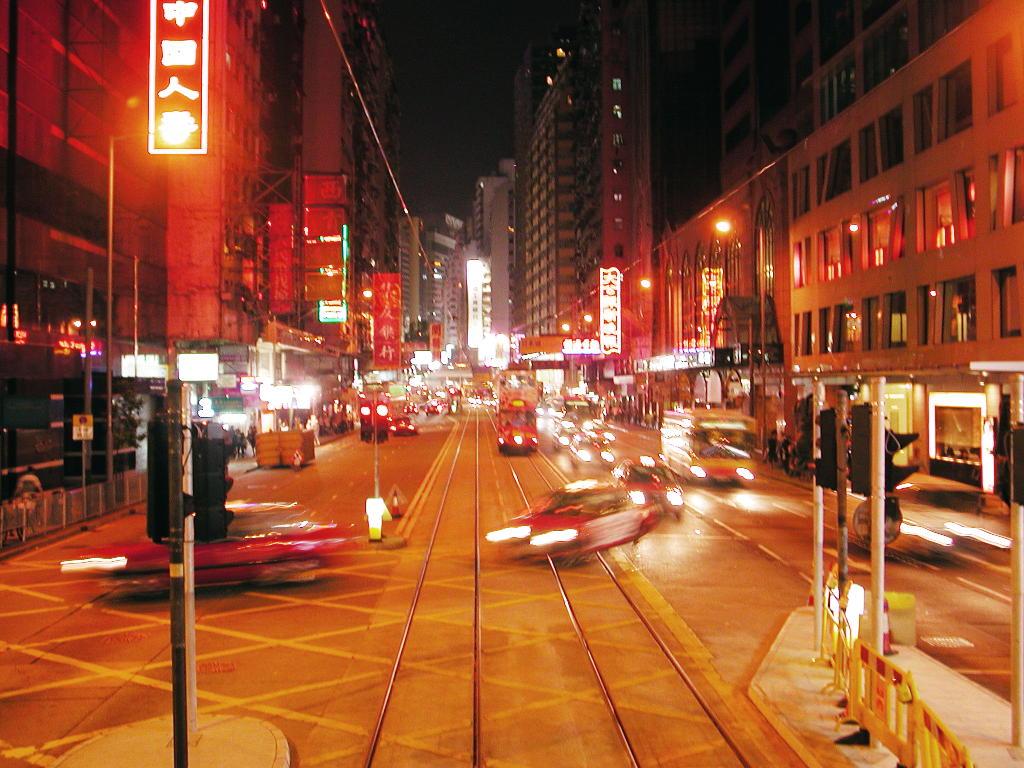 香港・小心地滑友の会 その1・二階建てトラムと夜景2008秋-0109