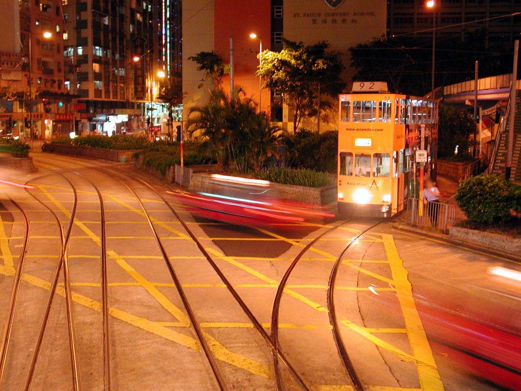 香港・小心地滑友の会 その1・二階建てトラムと夜景2008秋-0111